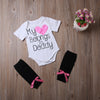 2pcs Newborn Baby Boys Girls Letter Printed Romper Jumpsuit +Warm Legging Clothes Outfits Set