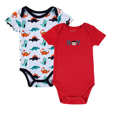 High Quality Baby Romper Boy & Girl Cartoon Animal 0-12 M Jumpsuit Body Suit Baby Clothes Romper 2 PCS