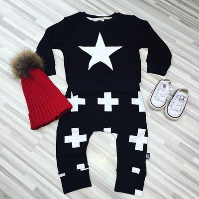 Baby boy clothes set cotton Fashion Star printed T-shirt+pants 2pcs Infant clothes newborn baby clothing set Tracksuit 6M-3Y