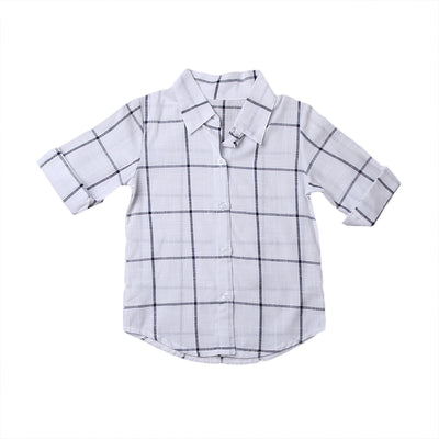Summer Toddler Kids Baby Girls Outfits Clothes Plaid T-shirt Dress Plaid Casual Beach Dress