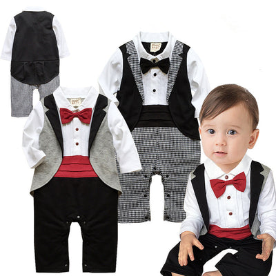 Baby Boy Clothing Sets Gentleman Newborn Baby Clothes Infant Jumpsuit