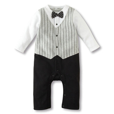 Baby Boy Clothing Sets Infant Jumpsuits Gentleman Baby Rompers Newborn Baby Clothes