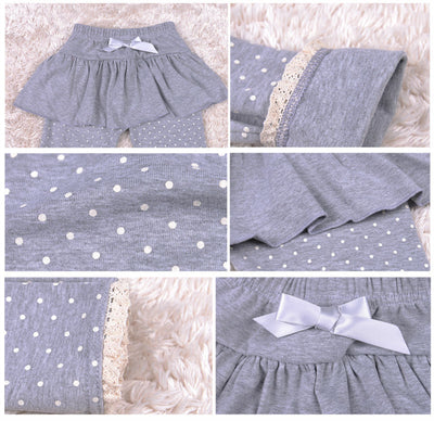 Autumn Girls Leggings Good Quality Children Clothing Cute Dot Skinny Pencil Girls Pants Bow Big Kids Clothes For Girls