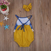 born Baby Girl Clothes Tassel Backless Romper Patchwork Jumpsuit Sun suit