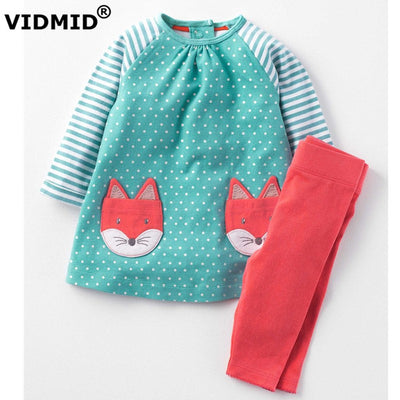 Children's Sets Long Sleeves shirts&Cotton Pants Girls Clothing Sets Children's Clothing girl Kids Clothes