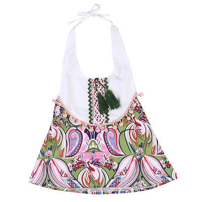 Newborn Baby Girls Floral Patchwork Rompers Tassel Jumpsuit Outfits Clothes