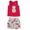 Kids Toddler Baby Girls Summer Outfit Clothes T-shirt Tops+pineapple Shorts Pants