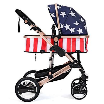Luxury Stroller Baby High Landscape Carriage For Newborn Infant 2017 Brand New Baby Pram Sit and Lie Four Wheels Bebek Arabasi