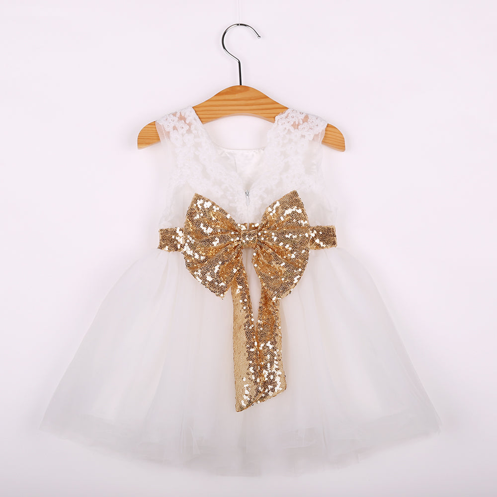 7beb9959b55c Christening gown summer infants dress lace bow toddler baby princess  birthday dress for baby girl clothes