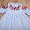 Kids Infant Baby Girls Summer Off Shoulder Dress Beach Sundress Party Bow-knot Dress