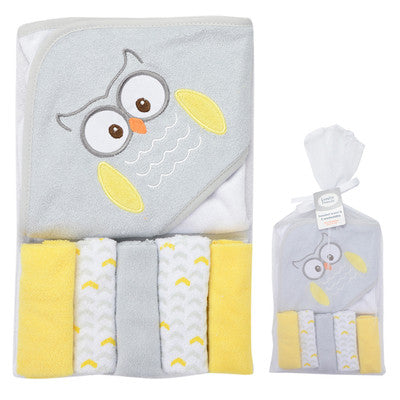 6 pcs Baby Bath Towel Animal Style Soft Baby Hooded Towel Cartoon Fox Protect Lovely Hooded Towel For Babies
