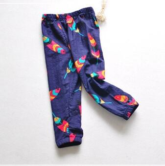 Girls pants kids full length trousers for girls beach color pants for kids girls clothing