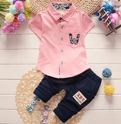 Baby Boys Clothing Set Summer Toddler Kids Cotton Clothes Boys Sport Suits Infant T-shirt Pants Boys Gentleman Suit