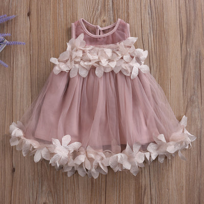 Flower Kids Baby Girl Lace Princess Dress Bridesmaid Petal Tulle Party Formal Dress Dresses