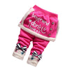 Autumn Winter Children Infants Pants Baby Girls Plus Thick Velvet Pants Kids Warm Cute Cotton Trousers