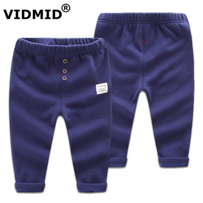 Children pants boys trousers kids fleece casual trousers Elastic waistband Solid cotton pants