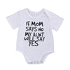 Newborn Baby boys girls letter Bodysuits one size Infant Babies Boy Girl Cute Cotton Bodysuit one-pieces Outfits  0-24 M Clothing