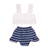 Summer Toddler Tops and Striped Triangle shorts