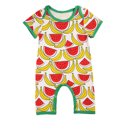 Newborn Baby Boy Girl Clothes Short Sleeve Romper Watermelon banana fruit Jumpsuit Summer Outfits Sun suit Clothes