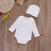 Baby Girls clothing sets Sequins Infant born Baby Girls Romper+Hat Jumpsuit Clothes Outfit Set