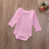 born Infant Baby Boy Girl Kids Cotton Long Sleeve Pink Romper Jumpsuit Clothes Outfit
