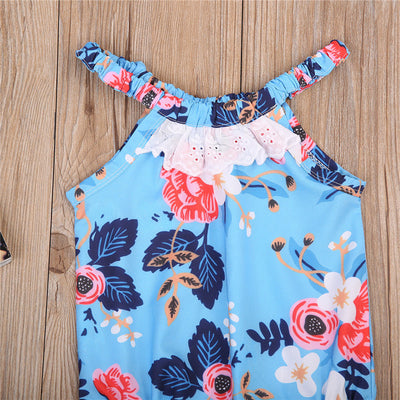 6Style ! Newborn Baby Girls Lace Jumpsuit Floral Romper Backless Outfits Sunsuit Clothes 0-24M SS