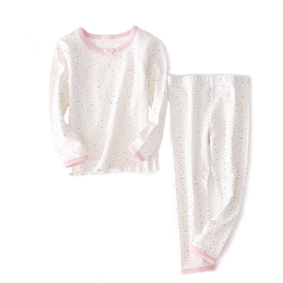 New kids baby girls winter long sleeved cotton underwear the fall pajamas kids baby clothes