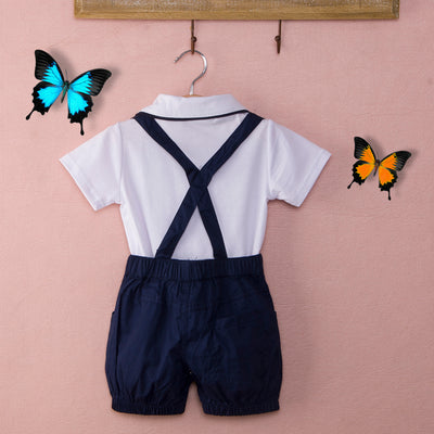 Baby Infant Boys gentleman Clothes Cotton Outfits Bow Tie+T-shirt Bib Pants Kids Clothes