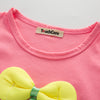 Summer Baby Girl Clothes Infant Girl Suit Bow-knot T-shirts + Strawberry Shorts Baby Girl Clothing Set Cute Baby's Set