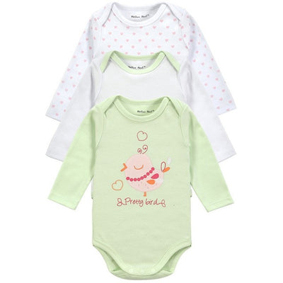3 Pcs Baby Bodysuit  Long Sleeve Baby Clothes Winter Infant Overalls Newborn Baby Boy Girl Clothing Set Jumpsuit