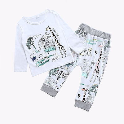 Spring Autumn Kid baby Girls Clothing Long Sleeve T-shirt+Pants Toddler Baby Kids Boy Girl Cotton Clothes