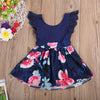 Fashion Toddler Kids Girls Lace Floral Summer Dresses Party Dress Back Hollow Out Sundress