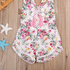 2Pcs born Baby Girls Clothes Set Floral Outfits Lace Tassel Jumpsuit Romper Playsuit Headband