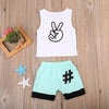 Cute Baby Boy Kids Casual vest Tops short Pants Outfits Clothes Set
