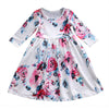 Summer Toddler Kids Baby Girls Boho Long Floral Princess Party Prom Beach Short Sleeve Dress