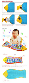 Piano Music Game Mats Touch Type Electronic Mat Multi function Baby Play Mat Animal Sounds Sings Toys for Kids Gift