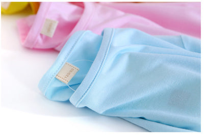 New kids spring cotton clothes baby boys and girls long suit baby underwear moisture absorption pajamas