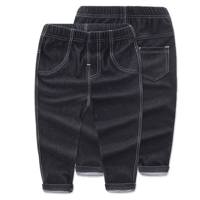 Fashion Boys Girls Jeans cotton denim Pants Boys girls Trousers Children Denim Kids solid Jeans