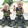 Cotton born Infant Baby Girl Boy Romper Sleeveless Camouflage Jumpsuit Clothes Outfits