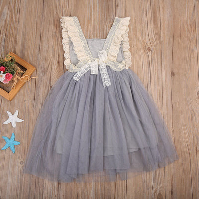 Flower Girl Princess Sequins Lace Stitching Dress Toddler Baby Wedding Fancy Birthday Party Tutu Dresses