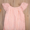 born Baby Girl Jumpsuit Toddler Infant Pink Lace Outfit Romper One-Pieces Sunsuit Clothes 0-24M
