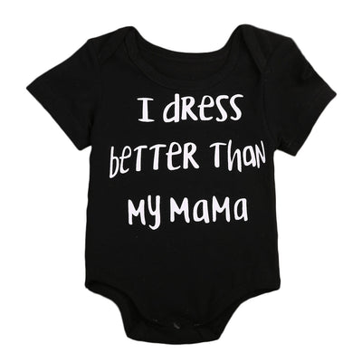 Babies Letter printed Cotton Bodysuits Clothes Newborn Infant Baby Boys Girls Bodysuit