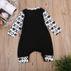 Newborn Infant Kids Baby Boys Clothes Long Sleeve Patchwork Printed Jumpsuit Sun suit Outfits Clothing