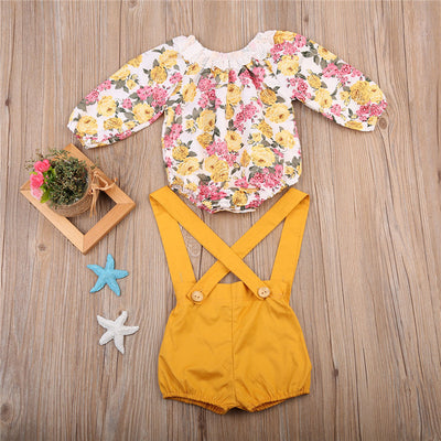 Baby Girls Floral Long Sleeve Jumpsuit