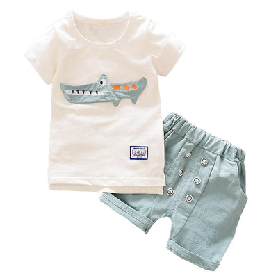 Baby boy clothes casual cotton children boys sport suit summer clothing sets kids 2pcs shirt pants clothes tracksuits