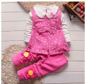 3 PCs Children Girls Clothing set Baby girls Floral Vest T-shirt Pants Tracksuit Kids Girls Sport Suit Children Clothing