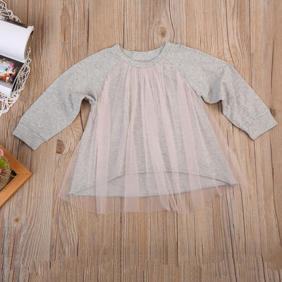 Spring Autumn Infant Baby Girls Dress Casual Long Sleeve Lace Party Dresses