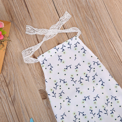 Newborn Baby Girl Sleeveless Floral Romper Lace Halter Jumpsuit Outfits Sunsuit Summer Clothes