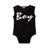 Boy and Girl Newborn Infant Baby Girls Boys Letters Sleeveless Romper Jumpsuit Clothes Outfits