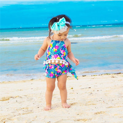 2PCs Baby Clothes  Summer Infant Baby Girls Floral Backless Tops Short Pants Fringes Tassels Outfits Playsuit Clothes